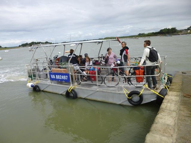 Vélos sur le bateau